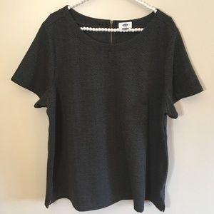 Old Navy pattern sweater t-shirt zip up back sz 2x